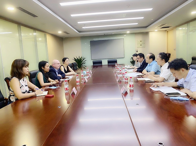 Meeting with Mr. Song Gang, Deputy Director General of Chongqing Commission of Commerce